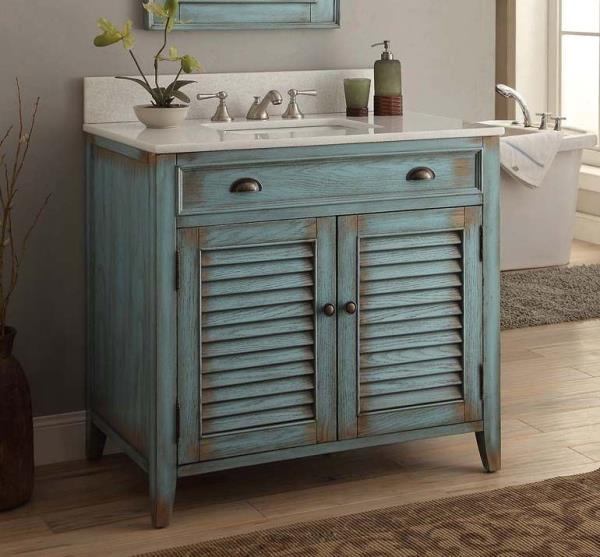Benton Collection Abbeville Vintage Style Rustic Bathroom Vanity Cf 28884bu 36 Ebay