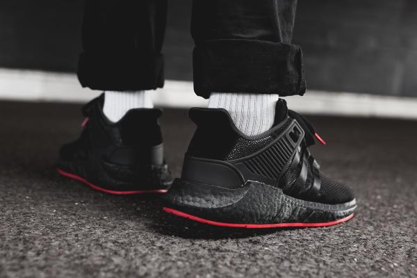 huge selection of 1f6c4 cd4ad ... pretty cheap Adidas Eqt Support 9317 Red Carpet Pack Black Size 7-12  Mens No ...