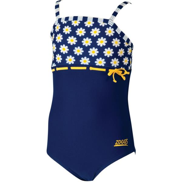 Zoggs Infant Girls Daisy Stripe Navy Swimming Costume Age 2 Or 3
