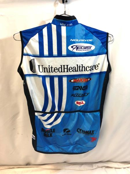 United Healthcare Vermarc Mens Pro Cycling Vest Medium Light Road Bike UHC 909dabc2b