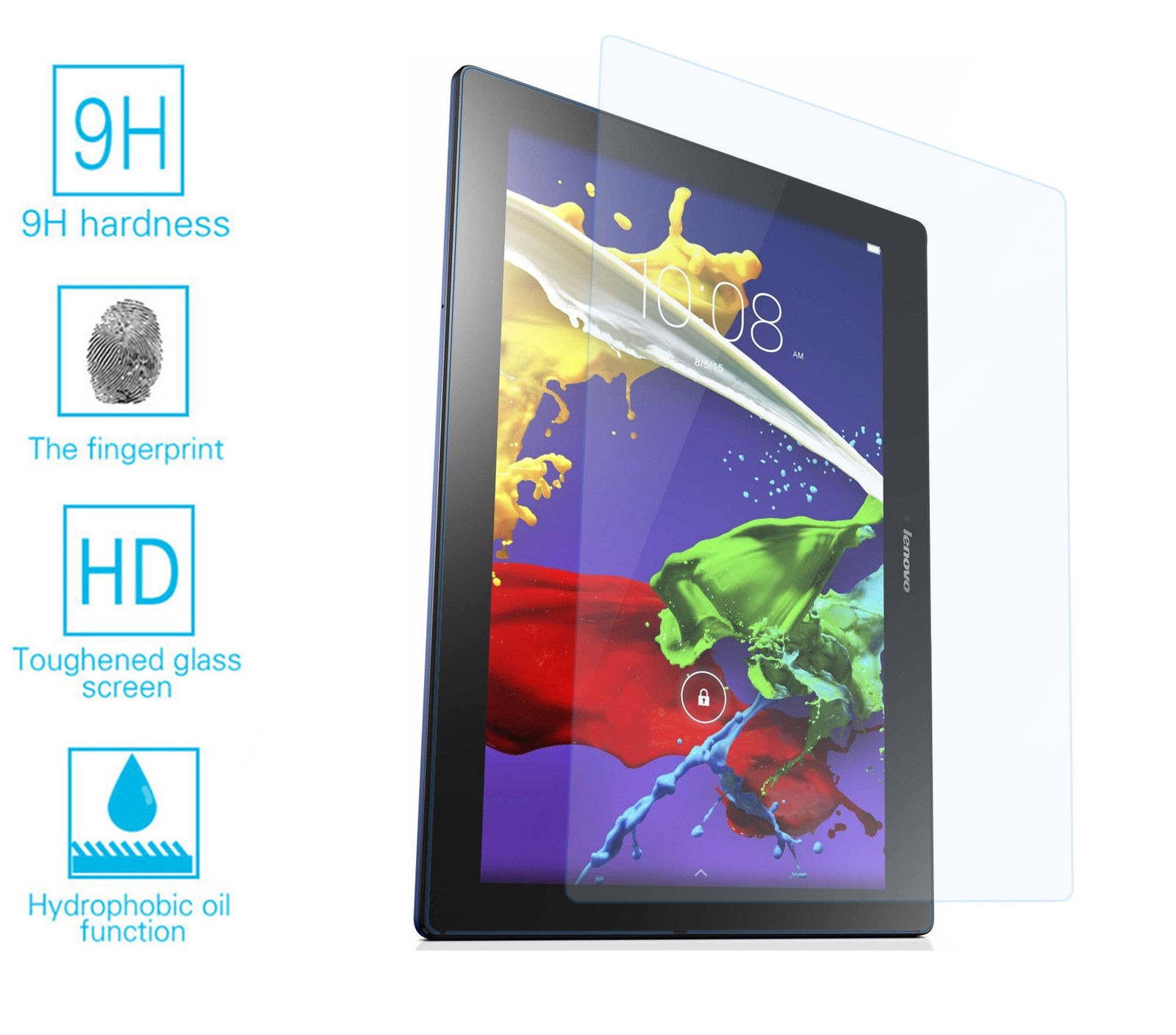 """A10-70 Tempered Glass Screen Protector for 10/"""" Tablet Lenovo Tab 2 A10-30"""