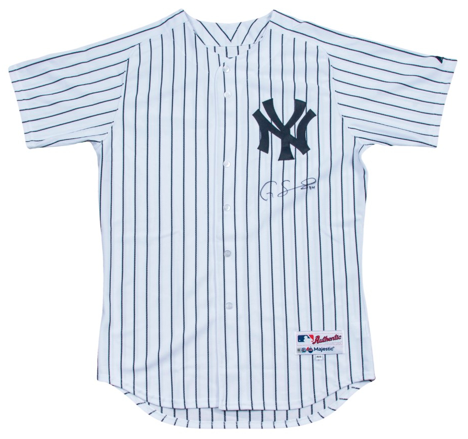 new concept f5727 486fd Details about Gary Sanchez Signed Authentic New York Yankees Game Model  Jersey Steiner COA