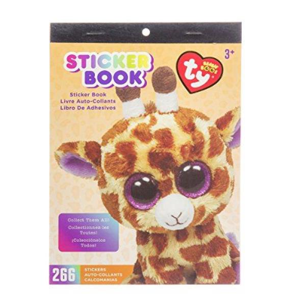 Darice visibility beanie Boo sticker book has the safari giraffe theme.  There are 266 individual stickers in this book. The book of stickers  measures 6 by 9 ... e1393aa9293
