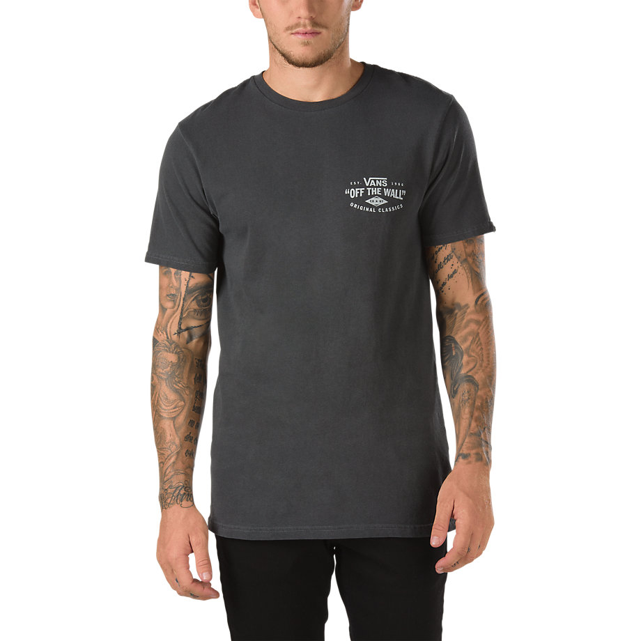 Vans Tee Original Classics Wash Black Overdye FREE POST Skateboard T-Shirt