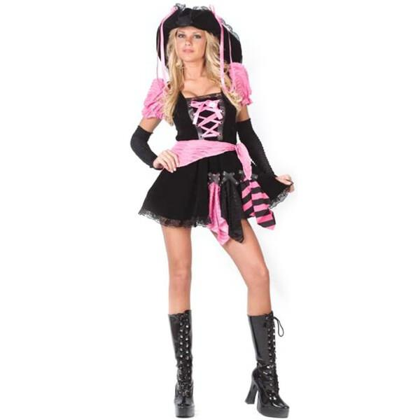 Adult Pink Sexy Pirate Costume Ebay