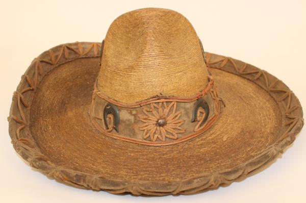 2cb01a0cffa95 We believe this old sombrero to likely be from the1800 s. It measures 15