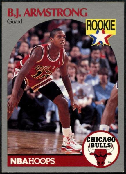Details About Bj Armstrong 60 Chicago Bulls Hoops 1990 1991 Basketball Card C494