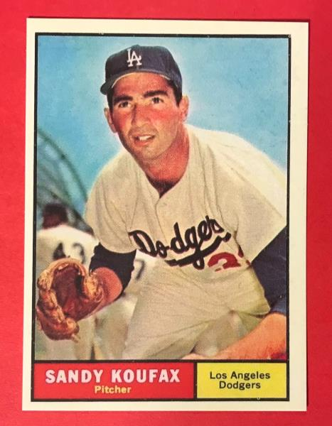 Details About Sandy Koufax 1961 Topps Baseball Card 344 Reprint Los Angeles Dodgers