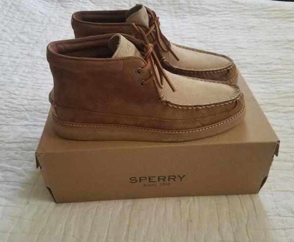 NEW MEN'S SPERRY FOR J CREW CREPE SOLED
