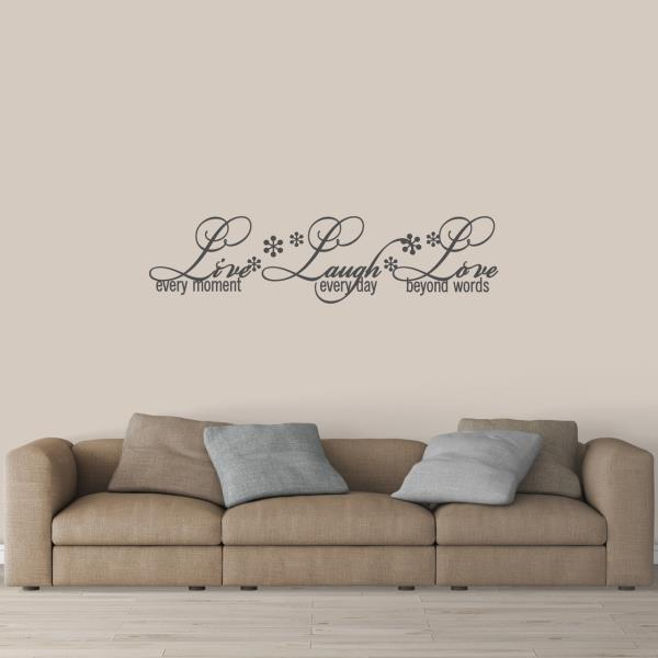 Live Laugh Love Wall Decal Family Room Living Room Love Decor Sticker Ebay