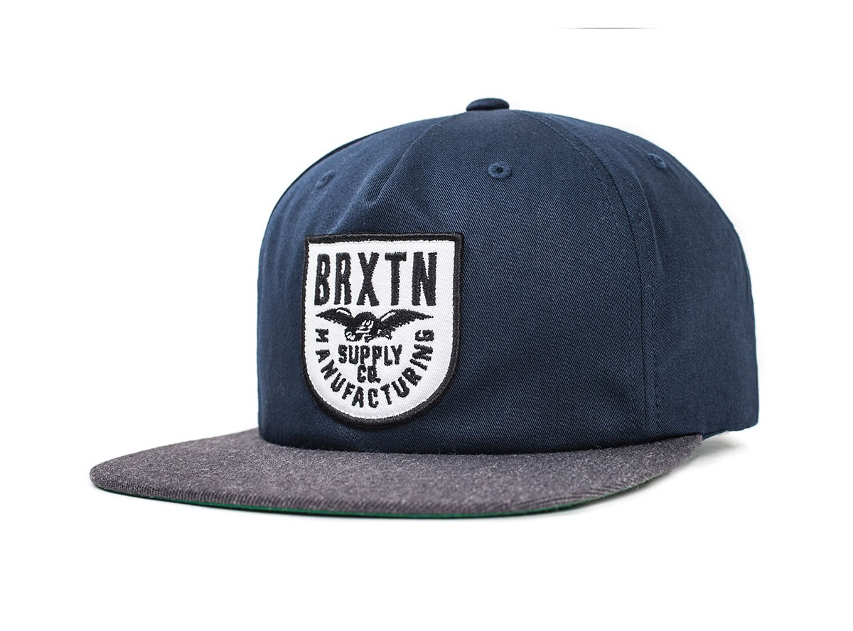 Brixton Cap Alliance Navy Charcoal Snapback FREE POST