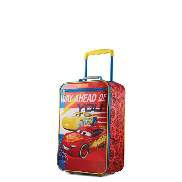 22b68ac475f5 Details about American Tourister Disney Kids Softside 18 Inch Upright -  Disney Cars Red