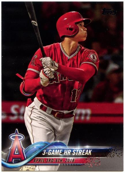 Shohei Ohtani-Anges #US189 Baseball 2018 TOPPS Update Series Trade Card C2343