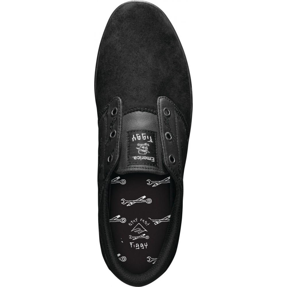 Emerica Shoes Figgy Figueroa x Hard Luck Black Black FREE POST New Skateboard Sneakers