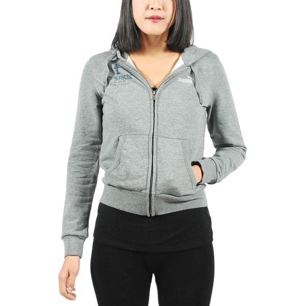 c613433a79 Details about Women's PUMA Americas Cup TR Zip Up Hoodie Grey Heather size  M (T75) $65