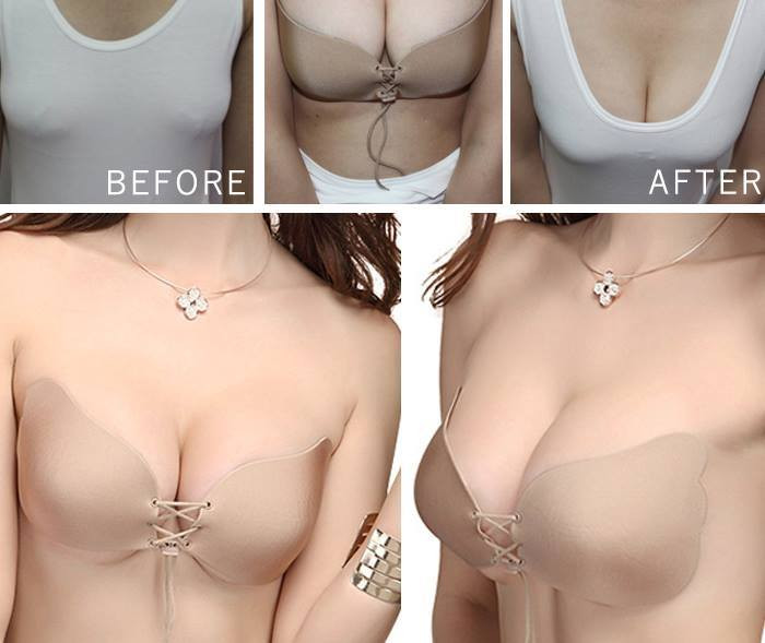 9bbf96d4ba New Sticky Self Adhesive Push Up Strapless Backless Invisible Magic Bra A-C  Cup