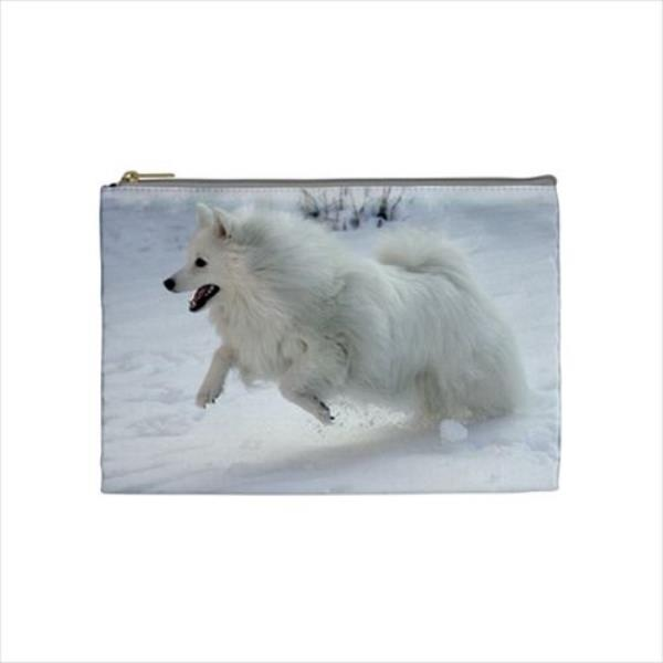 c568e96abca0 Details about Japanese Spitz Cosmetic Bag & Handbag Mirror - Dog Canine