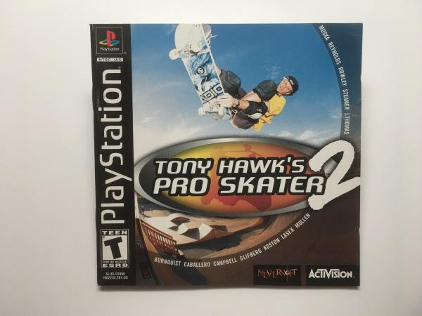 Details about TONY HAWK'S PRO SKATER 2 - PLAYSTATION CIB COMPLETE GAME  (GAME, BOX, AND MANUAL)
