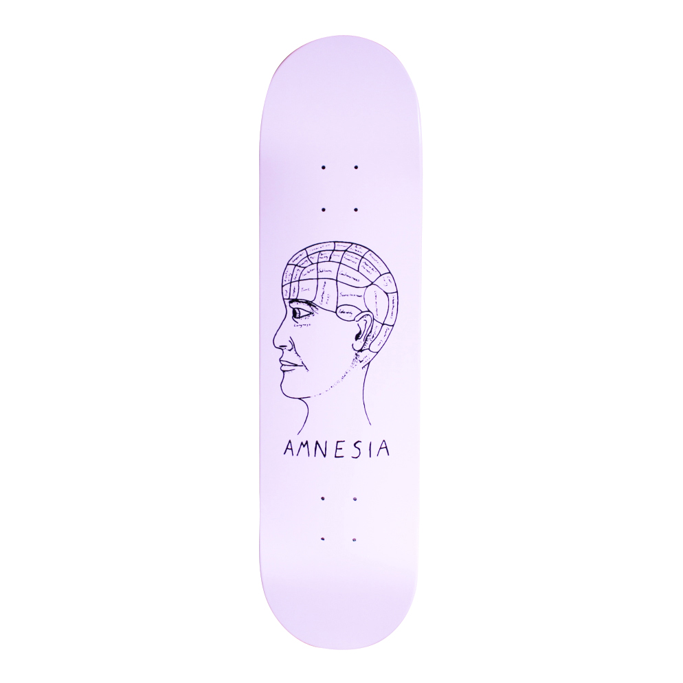 Amnesia Skateboards Deck Phrenology free grip and free post