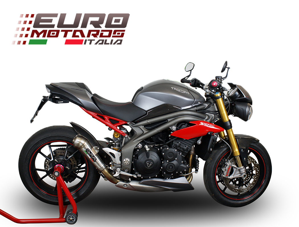 triumph speed triple 1050 r 2016 single low gpr exhaust silencer powercone new ebay. Black Bedroom Furniture Sets. Home Design Ideas