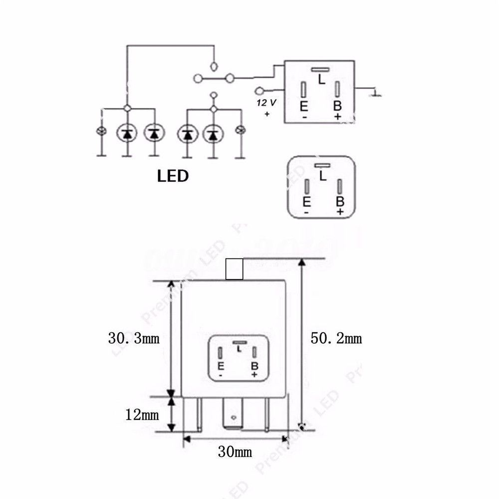 3 Pin Cf14 Adjustable Led Abs Flasher Relay Turn Signal Lights Fix Wiring Diagram Item Description Package Include 2pcs