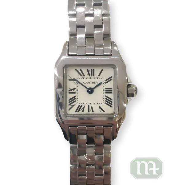 new products ab9d4 23f91 Details about Cartier Small Demoiselle Stainless Steel Quartz Bracelet  Watch 20MM W25064Z5