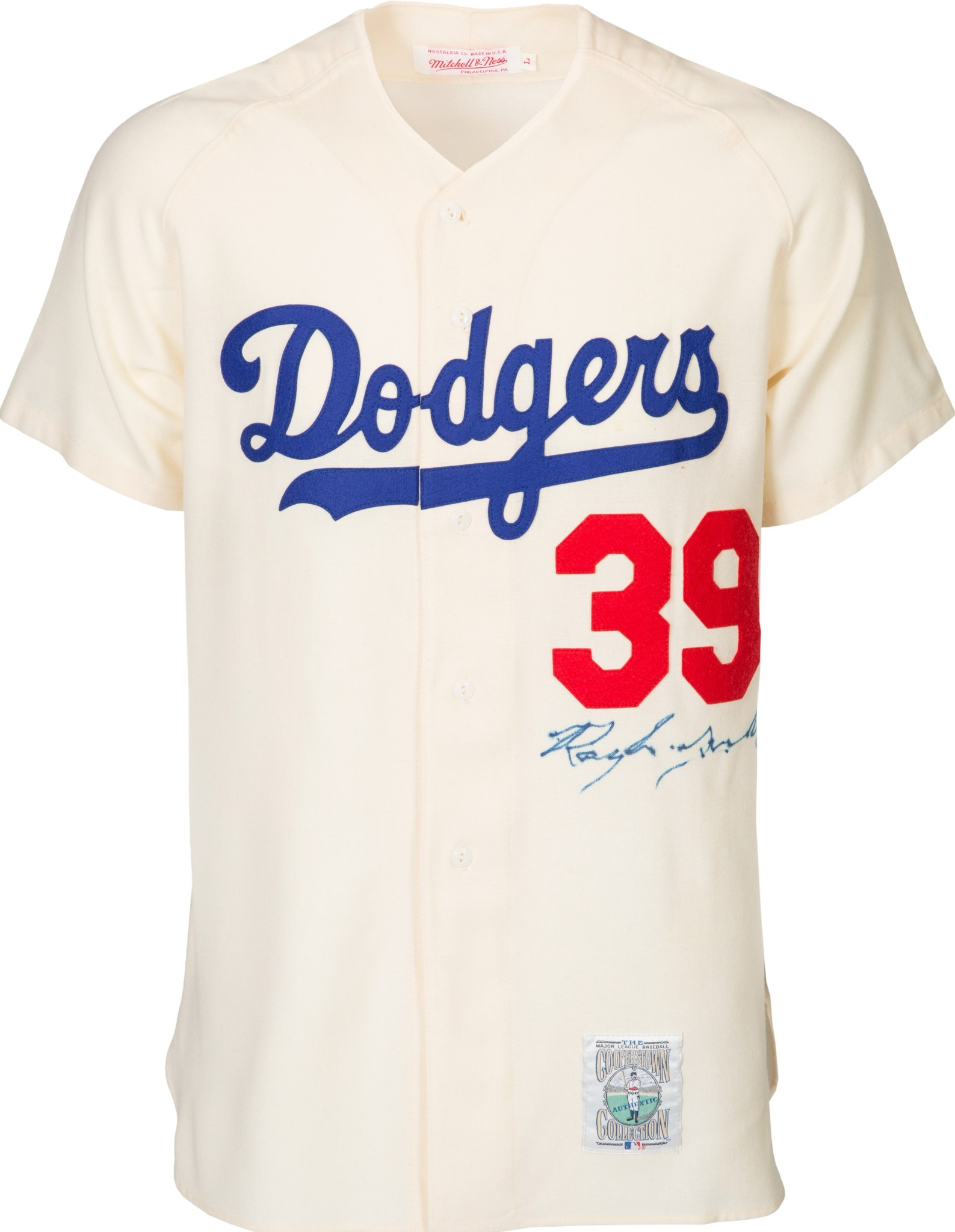 819bfb154 Roy Campanella Signed Authentic Brooklyn Dodgers Mitchell   Ness ...