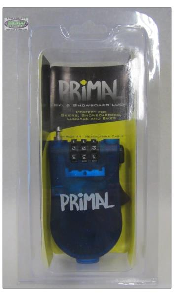 """PRIMAL 44/"""" RECOIL RETRACTABLE MINI CABLE LOCK FOR LUGGAGE AND BAGS"""