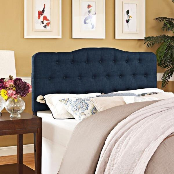 Twin Full Queen King Navy Upholstered Headboard Bed Frame Mount ...