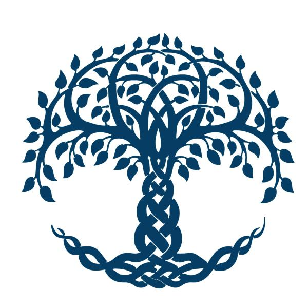 EASY 60 DMC Colors Celtic Knot Tree Of Life Counted Cross Stitch Awesome Tree Of Life Pattern