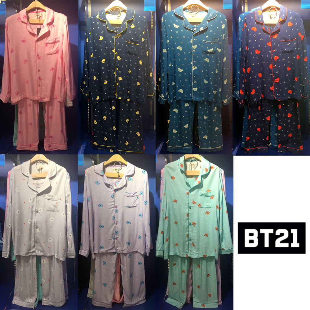 a982756a396 BTS BT21 Official Authentic Goods Pajamas by LINE FRIENDS + tracking Number