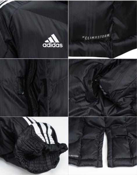 Details about Adidas Men 2017 18 Shadow Long Padded Jacket Winter Black Parka Coat BR2069