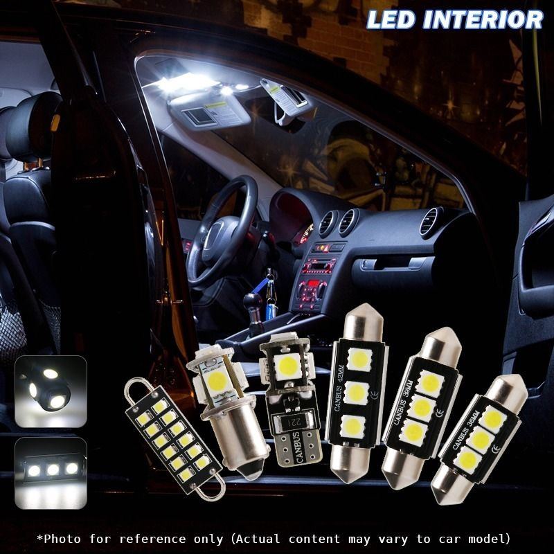 5X Canbus White Car LED Interior Lights Kit For 2007 Up Jeep Wrangler JK  2 Door