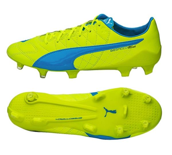 Details about PUMA Men evo-SPEED SL Leather FG Cleats Lime Soccer Shoes  Boot Spike 103260-04