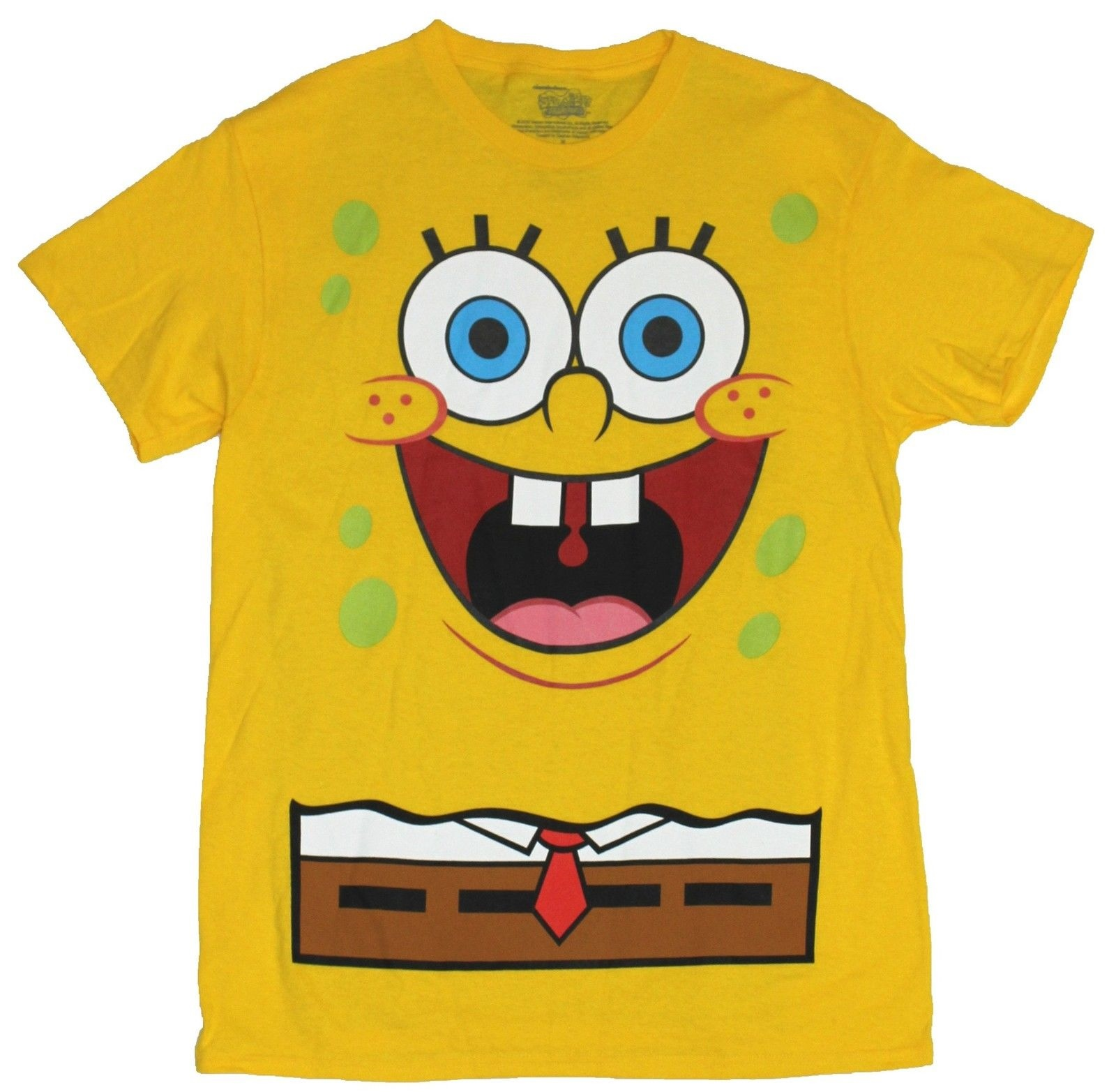 men/'s XL spongebob loose fit t-shirt spongebob square pants yellow top fun XL