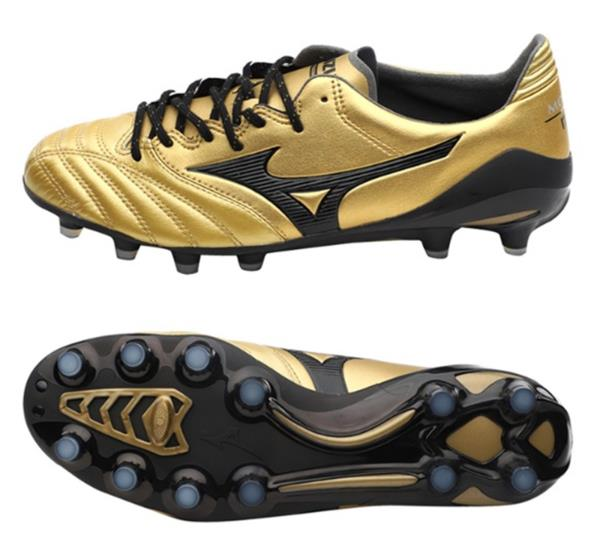 158574a1d68 Mizuno Men Morelia Neo II MD Cleats Soccer Gold Black Football Spike ...
