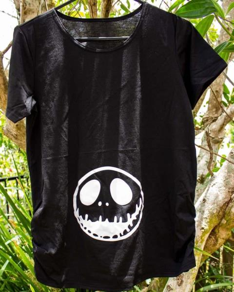 Nightmare Before Christmas Maternity Clothes.Nightmare Before Christmas Black Maternity Tee Shirt Jack
