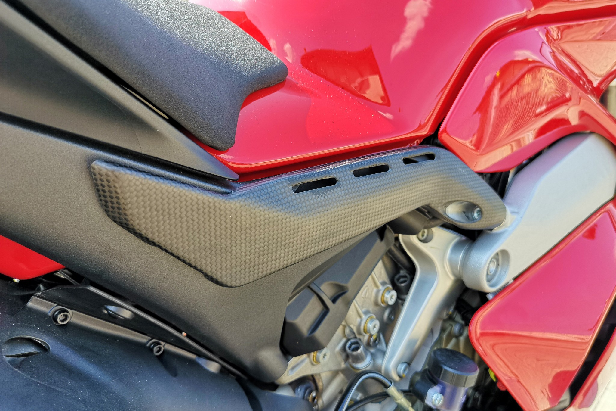 Ducati Panigale V4 S Cnc Racing Carbon Fiber Rear Subframe Covers