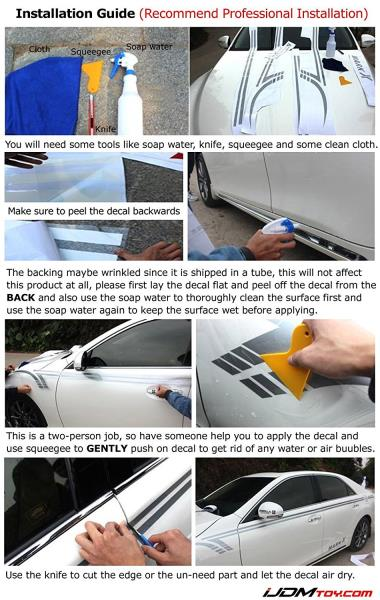 6e5f1c4783 Simply lay the decal flat on the ground and peel off the decal from the  back when you apply it on the vehicle.