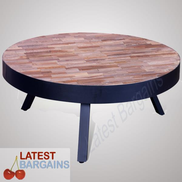 Reclaimed Teak Coffee Table.Details About Wooden Coffee Table Round Reclaimed Teak Timber Side Lounge Living Room New