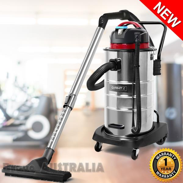 Details about 60L Wet Dry Vacuum Cleaner Bagless Industrial Drywall Dust  Extractor Blower Vac