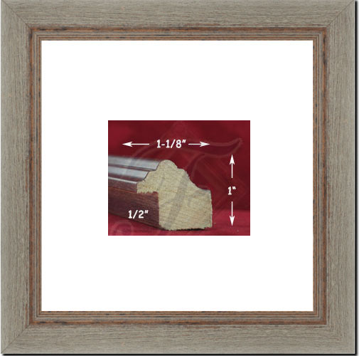Rustic Gray Wooden Wall Picture Frame 8 X 8 Photo 1125 Wide Frames