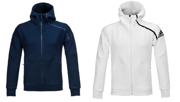 Details about Adidas Men ZNE Hoodie 2.0 Jackets Navy White Training FZ GYM Top Jacket BQ6928