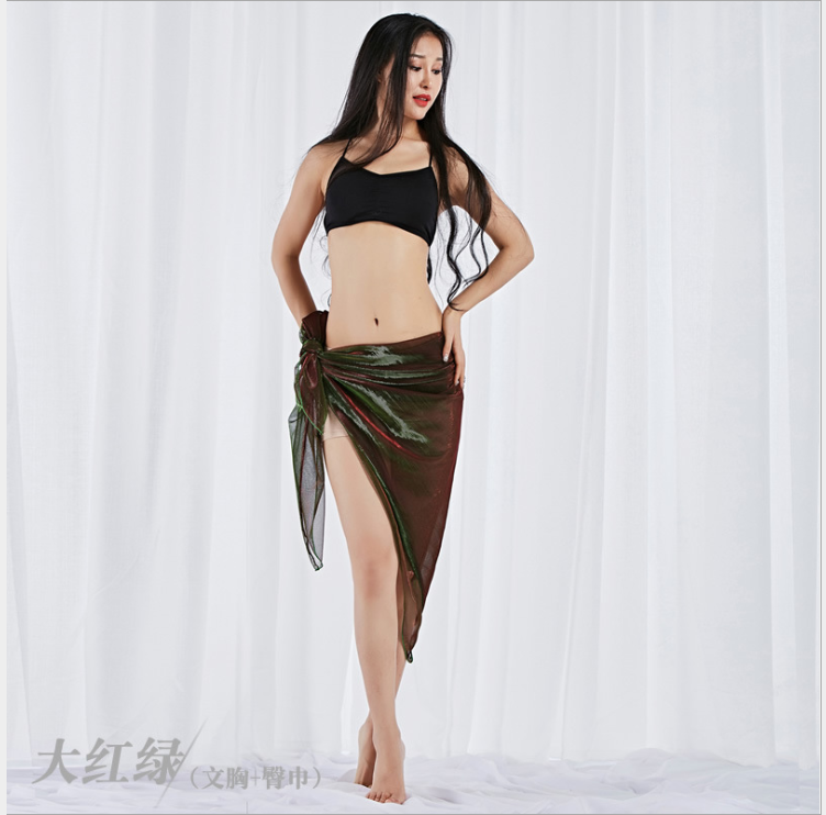 Bright Color Waist Kerchief Hip Scarf Multiple Wear Methods Belly Dance Costumes