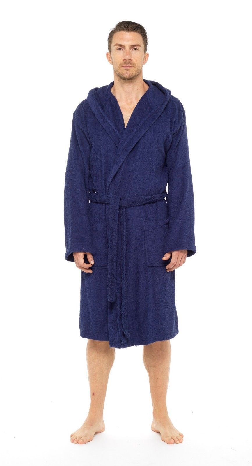 2125dcdebe CityComfort Men Towelling Robe 100% Cotton Bathrobe Dressing Gown Hooded No  Hood