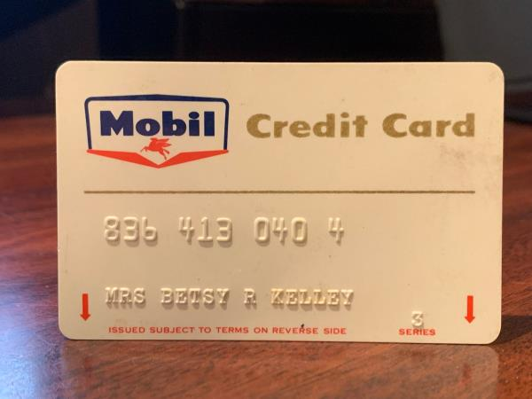 Gas Credit Card >> Details About Vintage Mobil Oil Credit Card 1960 S Petroliana Gas Gasoline