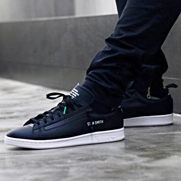 best sneakers a755a 8d285 Details about Adidas Consortium X Mita Stan Smith Sneaker Black Size 8 9 10  11 12 Mens NMD New