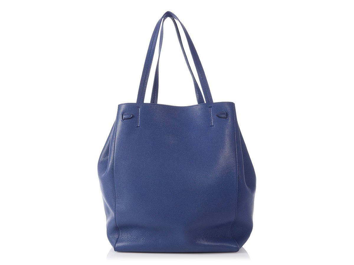 8b52e93fa5 CELINE Medium Blue Cabas Phantom Bag Purse with Belt ~ To cinch or not to  cinch!
