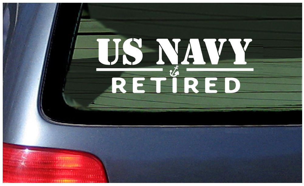 Us navy retired decal vinyl window sticker pride united states military sailor