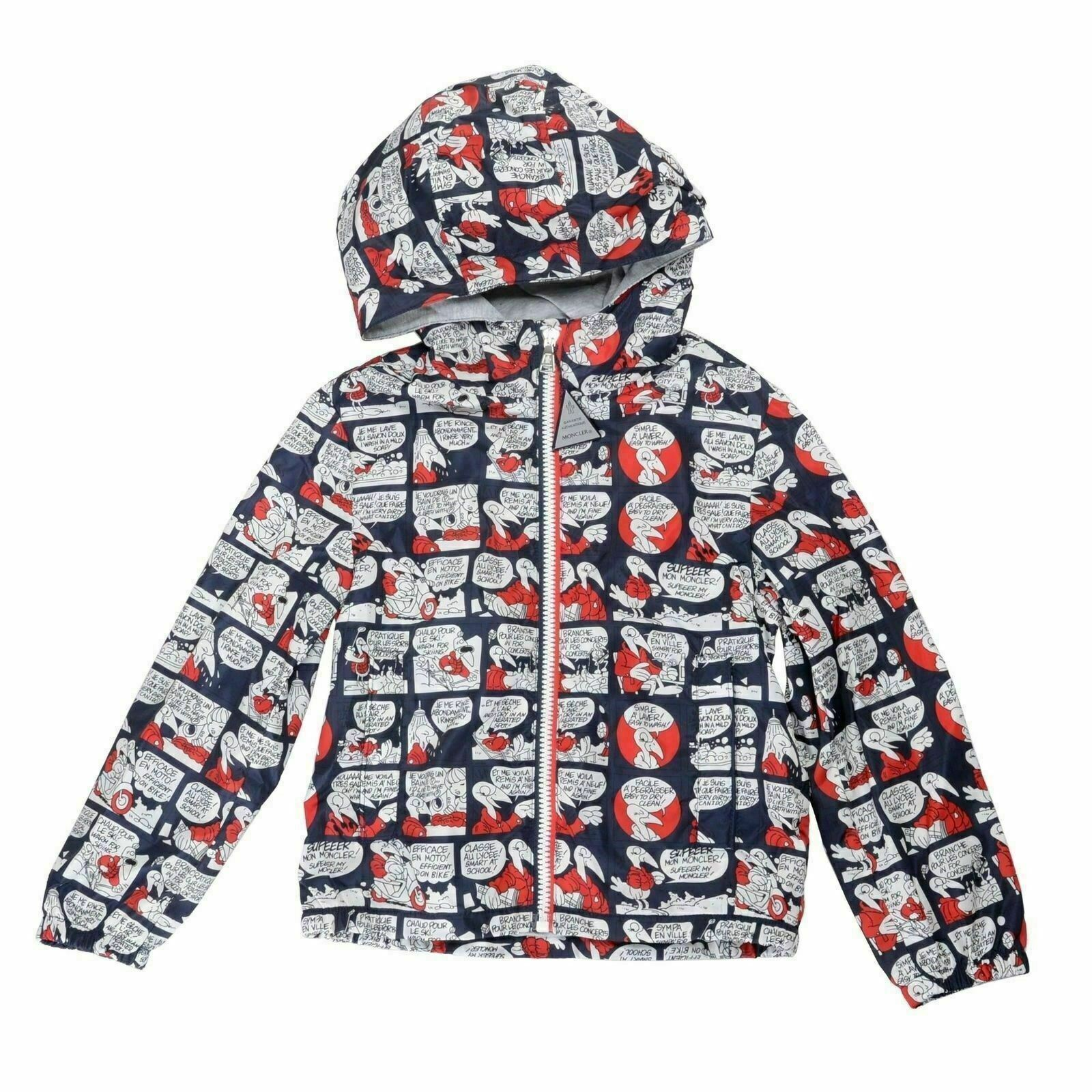 Details about Moncler Kids's NEW_URVILLE_IMP Hooded Windbreaker Jacket Moncler 6A US 6 Years